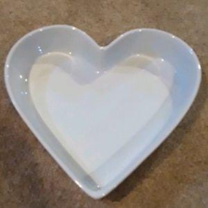 Crate & Barrel Porcelain Heart Serving Dish